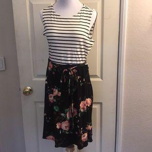 Stitch Fix Lux & Co striped floral dress XL